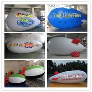 10M Inflatable Advertising Blimp /Flying Giant Helium Airplane/YR Logo